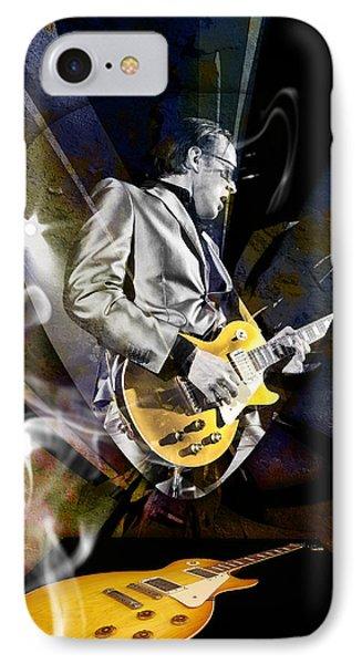 Joe Bonamassa Blue Guitarist Art Phone Case by Marvin Blaine