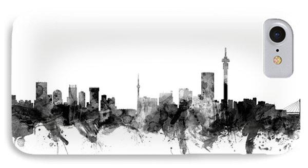 Johannesburg South Africa Skyline IPhone Case by Michael Tompsett