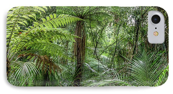 IPhone Case featuring the photograph Jungle Ferns by Les Cunliffe