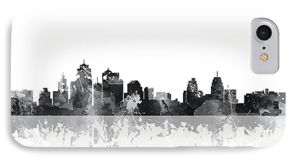 Kansas City Missouri Skyline IPhone Case