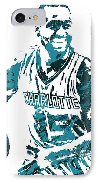 Kemba Walker Charlotte Hornets Pixel Art 3 IPhone Case by Joe Hamilton