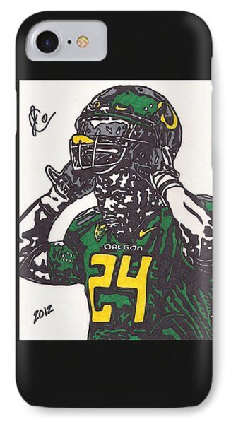 IPhone Case featuring the drawing Kenjon Barner 1 by Jeremiah Colley