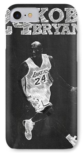 Kobe Bryant IPhone Case by Semih Yurdabak