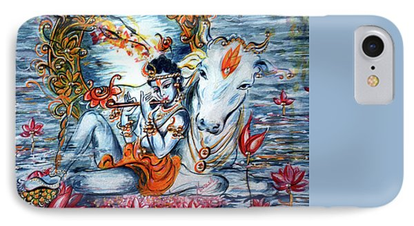 Krishna IPhone Case by Harsh Malik