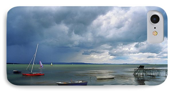 Lake Balaton Painting IPhone Case by Odon Czintos