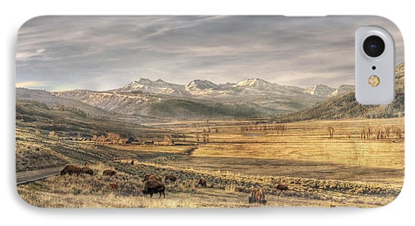 Lamar Valley IPhone Case by CR  Courson