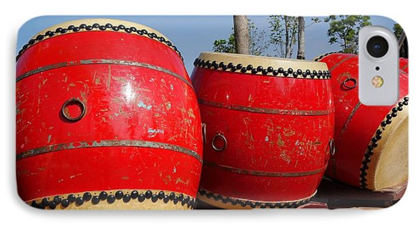 Large Chinese Drums IPhone Case by Yali Shi
