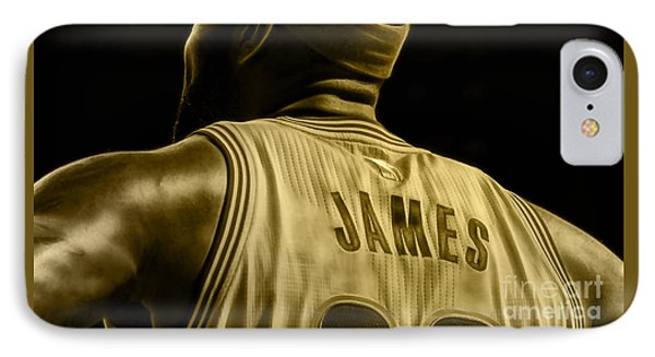 Lebron James Collection IPhone Case by Marvin Blaine