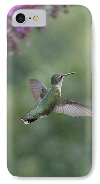IPhone Case featuring the photograph Little Hummer  by Laurinda Bowling