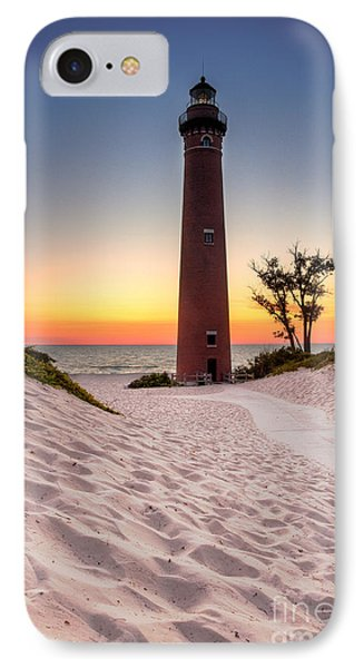Little Sable Point Light Station IPhone Case by Larry Carr