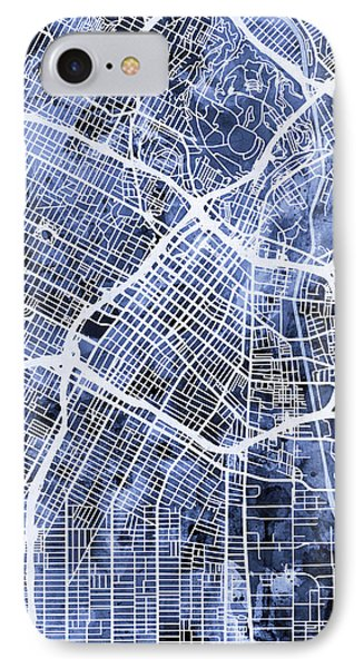 Los Angeles City Street Map IPhone Case