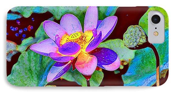 Lotus  IPhone Case by Lanjee Chee