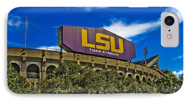Lsu Tiger Stadium Phone Case by Scott Pellegrin