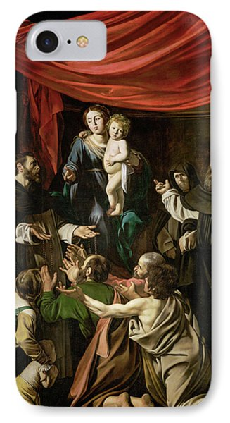 Madonna Of The Rosary Phone Case by Caravaggio