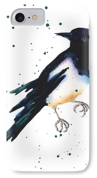 Magpie Painting IPhone Case by Alison Fennell
