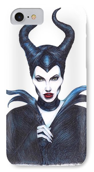 Maleficent  Once Upon A Dream IPhone Case by Kent Chua