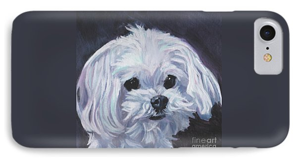 IPhone Case featuring the painting Maltese by Lee Ann Shepard