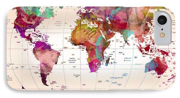 Map Of The World   Phone Case by Mark Ashkenazi