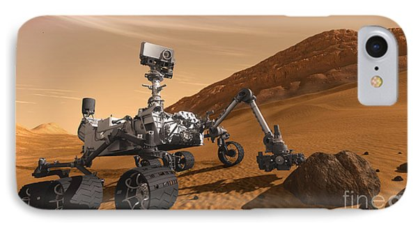 Mars Rover Curiosity, Artists Rendering Phone Case by NASA/Science Source