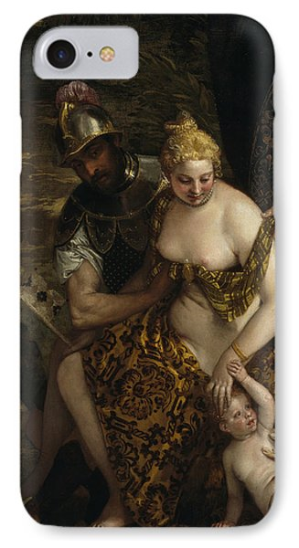Mars, Venus And Cupid IPhone Case by Paolo Veronese