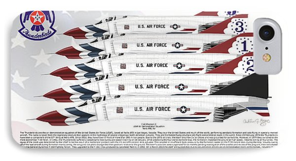 Mcdonnell Douglas F-4e Phantom II Thunderbirds IPhone Case by Arthur Eggers