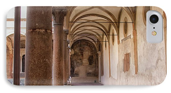 IPhone Case featuring the photograph Medieval Hallway Of Italian Cloister by Patricia Hofmeester