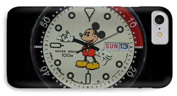 Mickey Mouse Watch Face IPhone Case by Rob Hans