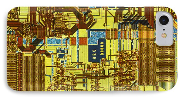 Microprocessor Phone Case by Michael W. Davidson