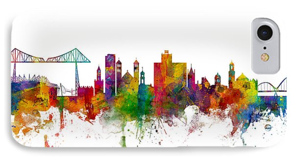 Middlesbrough England Skyline IPhone Case by Michael Tompsett