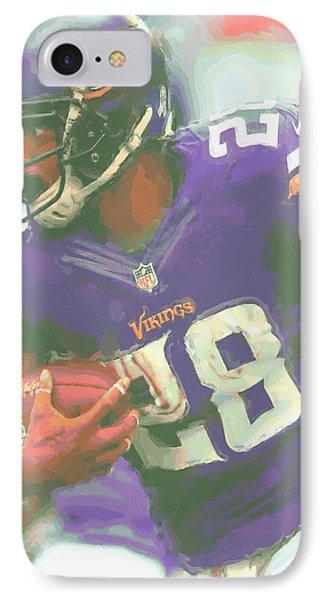 Minnesota Vikings Adrian Peterson IPhone Case by Joe Hamilton