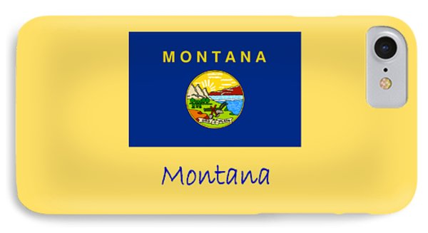 Montana Flag IPhone Case by Frederick Holiday