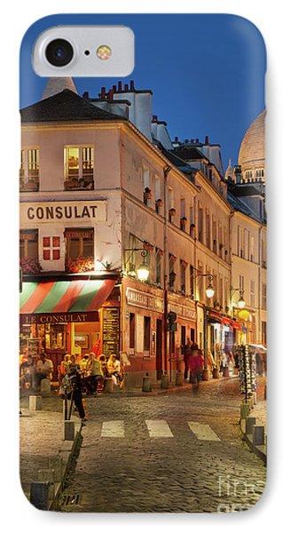 Montmartre Twilight Phone Case by Brian Jannsen