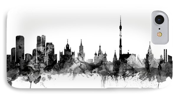 Moscow Russia Skyline IPhone 7 Case by Michael Tompsett