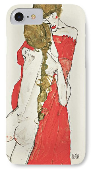 Mother And Daughter IPhone Case by Egon Schiele