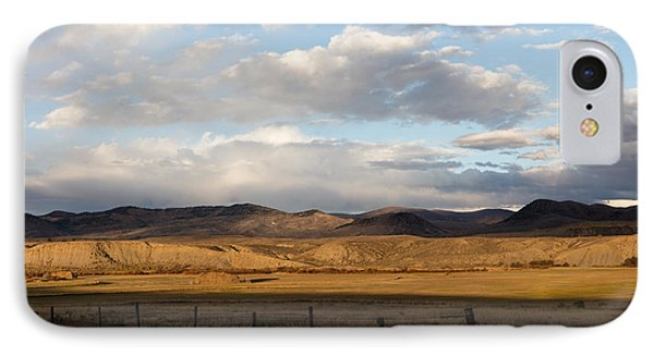 IPhone Case featuring the photograph Mountain Meadow And Hay Bales In Grand County by Carol M Highsmith