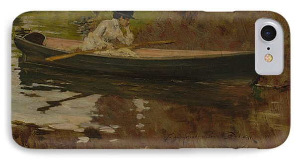 Mrs. Chase In Prospect Park IPhone Case by William Merritt Chase