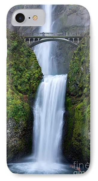 Multnomah Falls Waterfall Oregon Columbia River Gorge Phone Case by Dustin K Ryan
