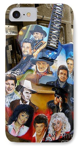 Nashville Honky Tonk Phone Case by Barbara Teller