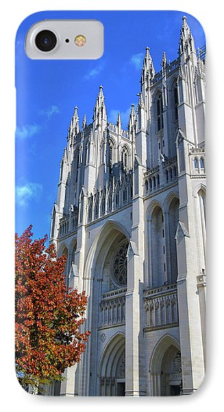 IPhone Case featuring the photograph National Cathedral by Mitch Cat