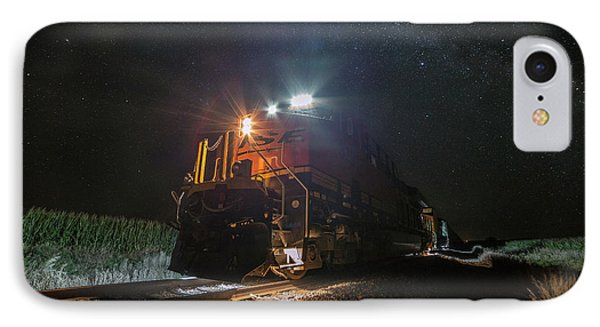 IPhone Case featuring the photograph Night Train  by Aaron J Groen