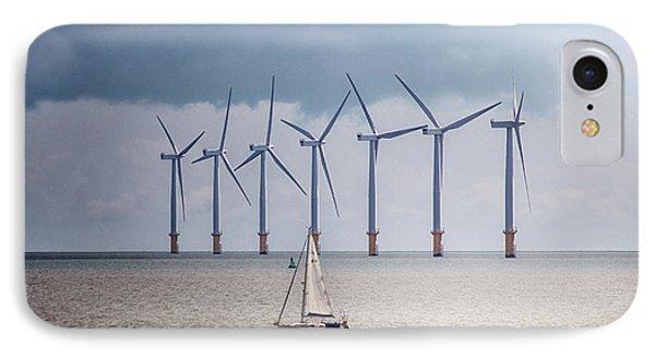 North Sea Wind Farm IPhone Case by Martin Newman