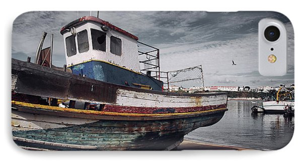 Old Fishing Boat IPhone Case by Carlos Caetano