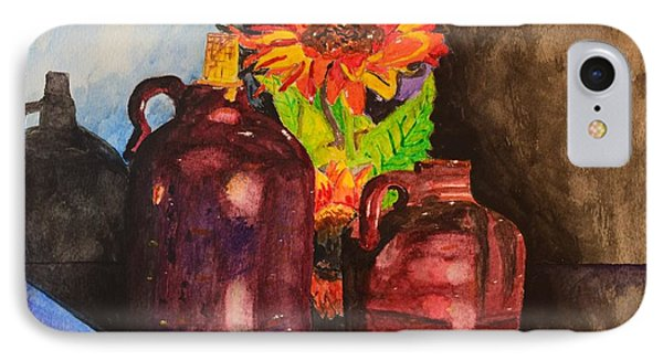 2 Old Jugs 1.. IPhone Case by Melvin Turner