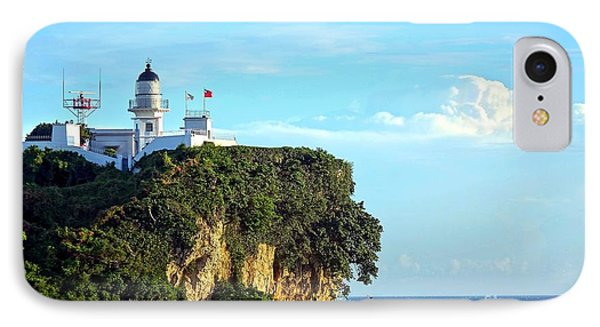 IPhone Case featuring the photograph Old Lighthouse Overlooking Kaohsiung Harbor by Yali Shi