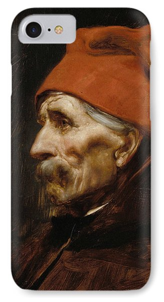 Old Man Wearing A Red Fez IPhone Case