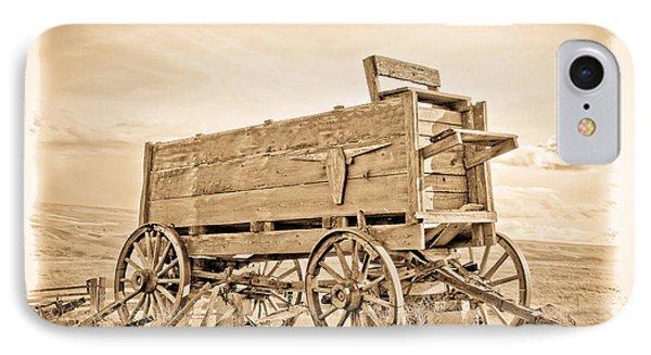 Old West Wagon  IPhone Case by Steve McKinzie