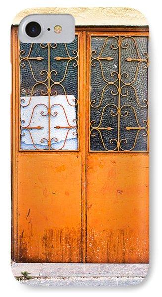 Orange Door IPhone Case by Tom Gowanlock