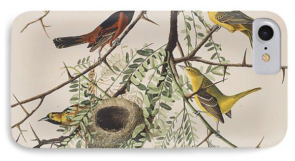 Orchard Oriole IPhone 7 Case by John James Audubon