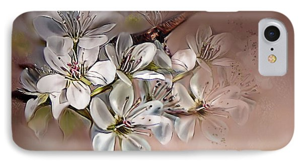 IPhone Case featuring the painting Oriental Pear Blossom by Bonnie Willis