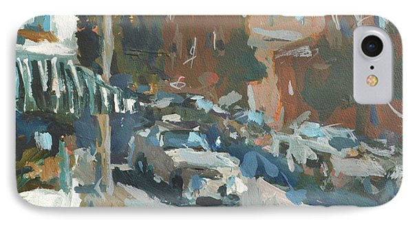 IPhone Case featuring the painting Original Contemporary Urban Painting Featuring Richmond Virginia by Robert Joyner